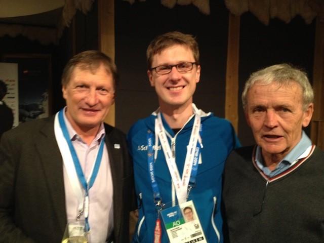 Impressionen Olympische Spiele Sochi 2014 Franz Klammer und Egon Zimmermann