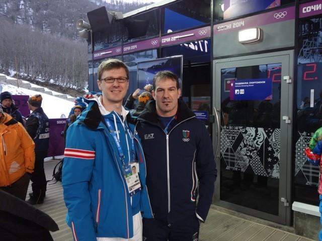 Impressionen Olympische Spiele Sochi 2014 - Rodellegende Armin Zöggeler