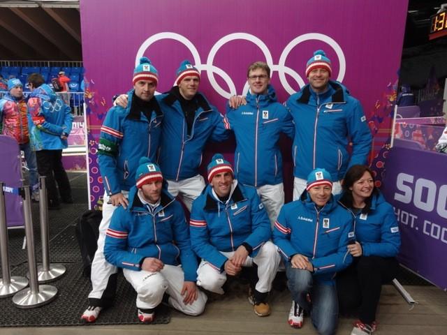 Impressionen Olympische Spiele Sochi 2014 - Betreuerteam des Rodelteams