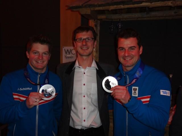 Impressionen Olympische Spiele Sochi 2014 - Silbermedaille der Linger-Brüder zum Abschluss ihrer Karriere